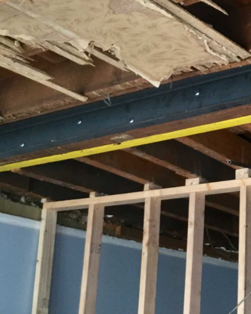 Structral repair project beam in basement